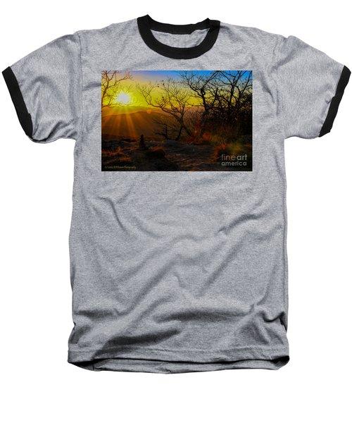 Sunset From Blood Mountain Baseball T-Shirt