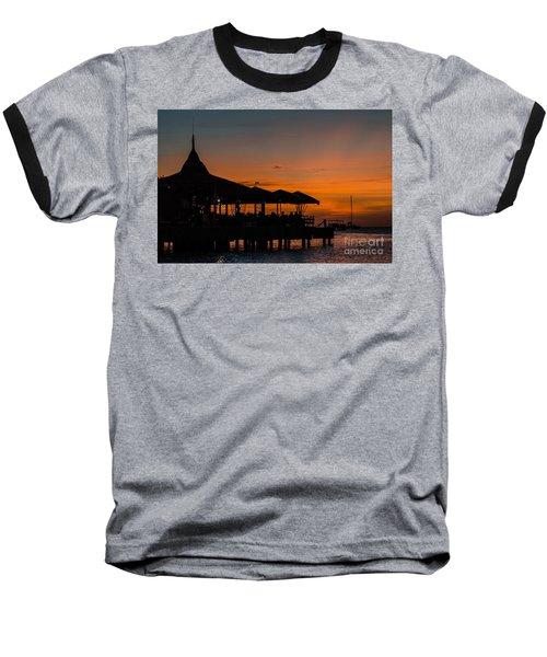 Sunset From Pelican Pier Baseball T-Shirt
