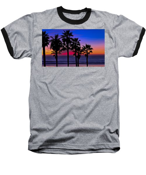 Sunset From The Ocean Park Inn Baseball T-Shirt