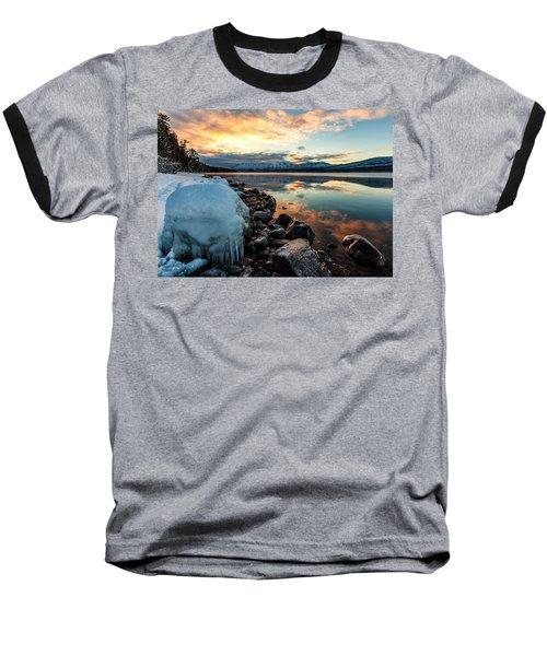 Baseball T-Shirt featuring the photograph Sunset Frozen by Aaron Aldrich