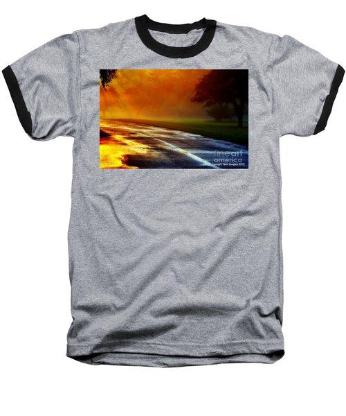 Sunset Glint In The Mist Baseball T-Shirt