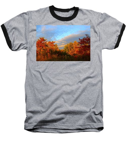Baseball T-Shirt featuring the photograph Sunset Glow by Kathryn Meyer