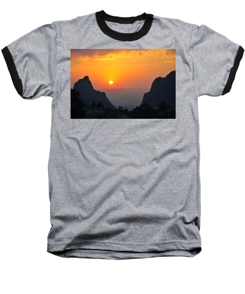 Sunset In Big Bend National Park Baseball T-Shirt