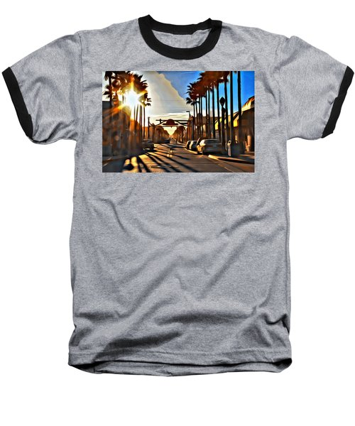 Sunset In Daytona Beach Baseball T-Shirt