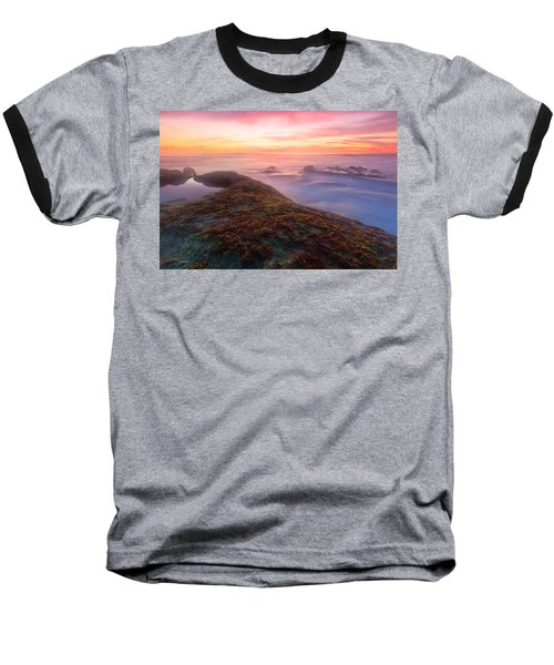 Sunset In La Jolla Baseball T-Shirt