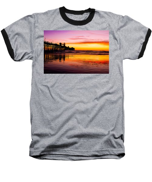 Sunset In Oceanside Baseball T-Shirt