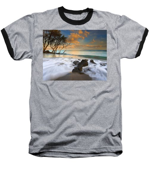 Sunset In Paradise Baseball T-Shirt by Mike  Dawson