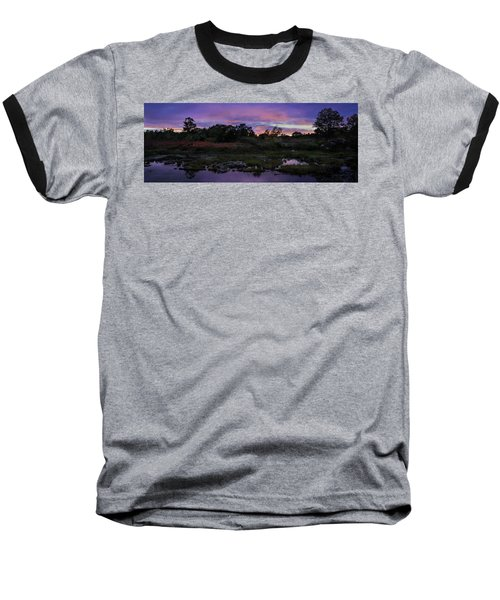 Sunset In Purple Along Highway 7 Baseball T-Shirt