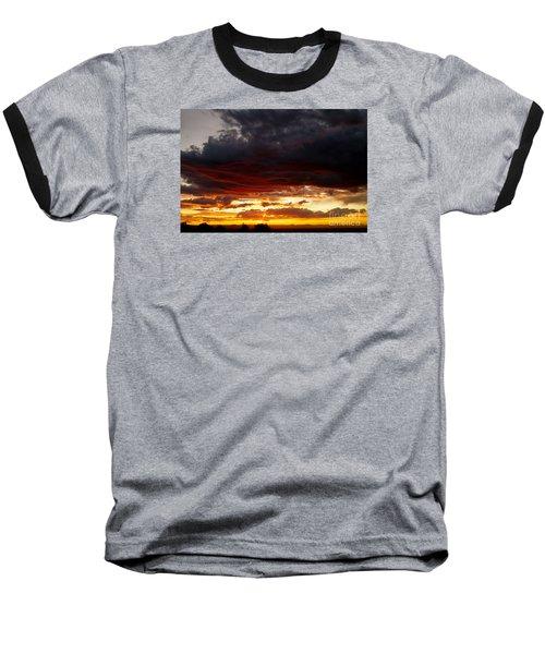 Sunset In Red Baseball T-Shirt