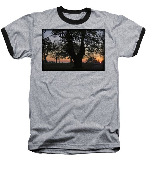 Sunset In Richmond Park Baseball T-Shirt by Maj Seda