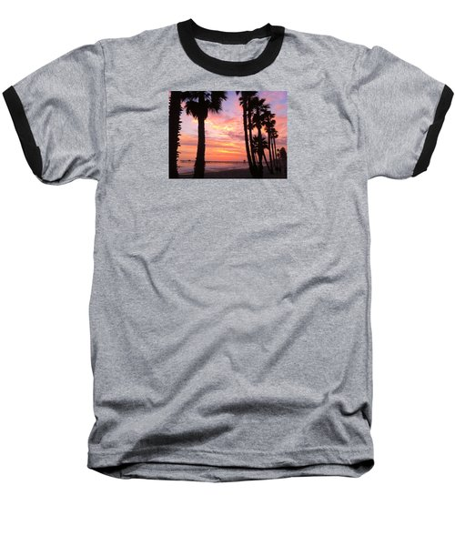 Sunset In San Clemente Baseball T-Shirt