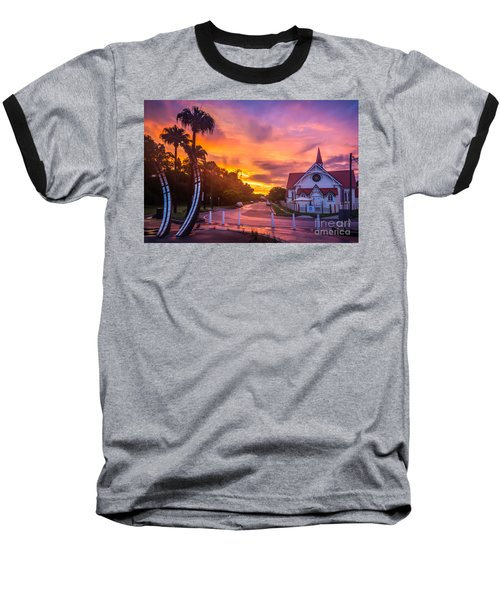 Baseball T-Shirt featuring the photograph Sunset In Sandgate by Peta Thames