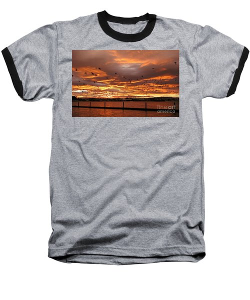 Sunset In Tauranga New Zealand Baseball T-Shirt