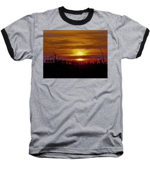 Baseball T-Shirt featuring the photograph Sunset In The Black Hills 2 by Cathy Anderson