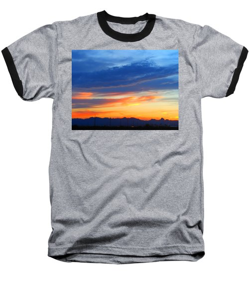 Sunset In The Black Mountains Baseball T-Shirt