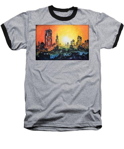 Sunset In The City Baseball T-Shirt
