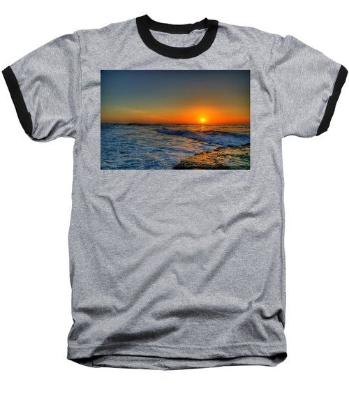 Sunset In The Cove Baseball T-Shirt