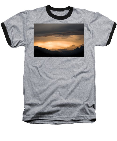 Sunset In The Mountains Baseball T-Shirt