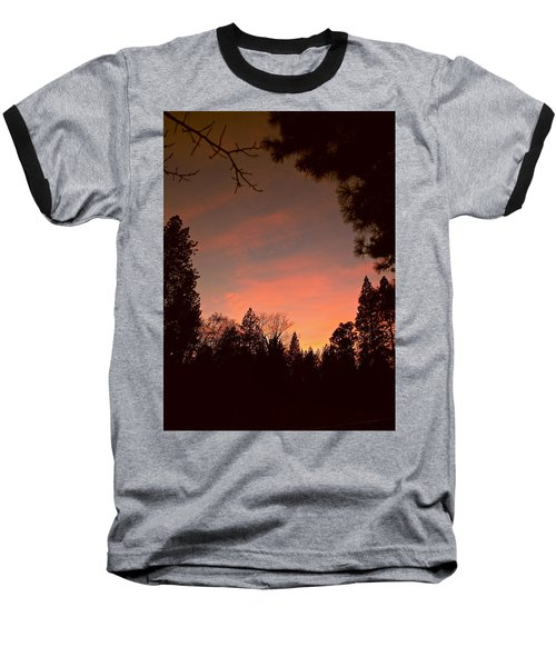 Sunset In Winter Baseball T-Shirt