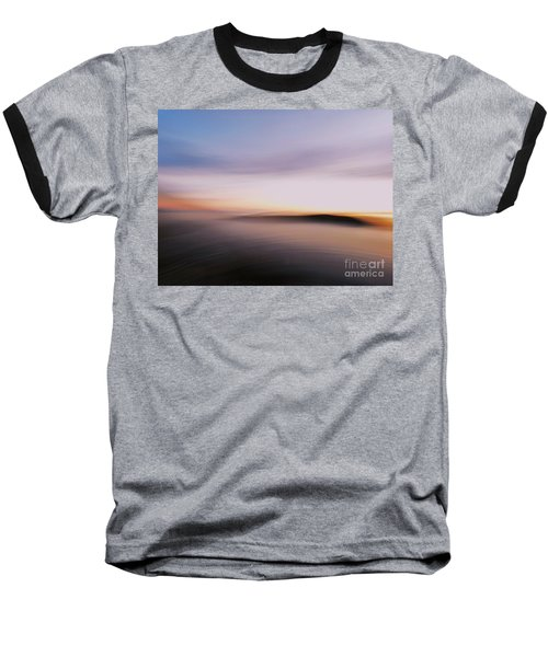 Sunset Island Dreaming Baseball T-Shirt by Andy Prendy