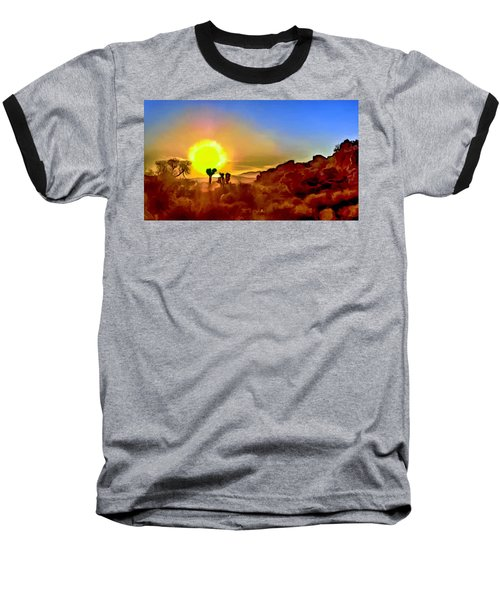 Sunset Joshua Tree National Park V2 Baseball T-Shirt