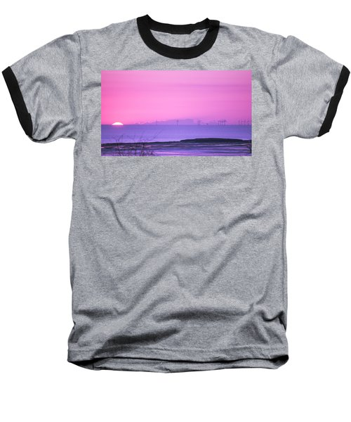 Sunset Baseball T-Shirt by Spikey Mouse Photography