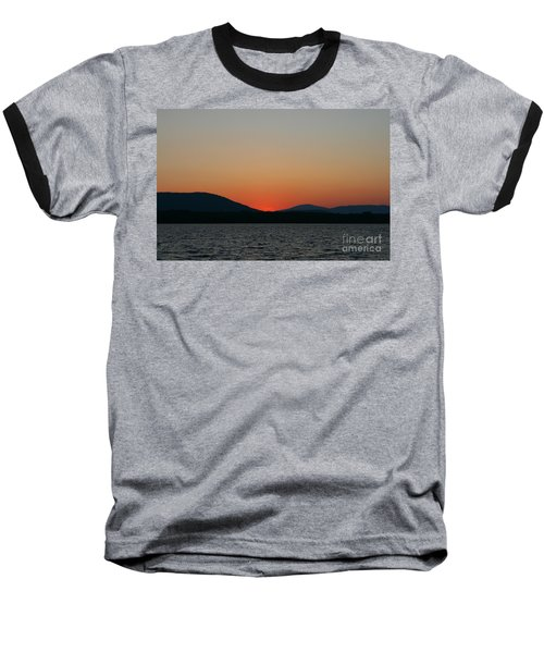Sunset Lines Of Lake Umbagog  Baseball T-Shirt