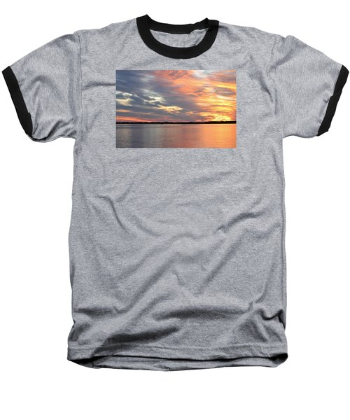 Sunset Magic Baseball T-Shirt by Cynthia Guinn