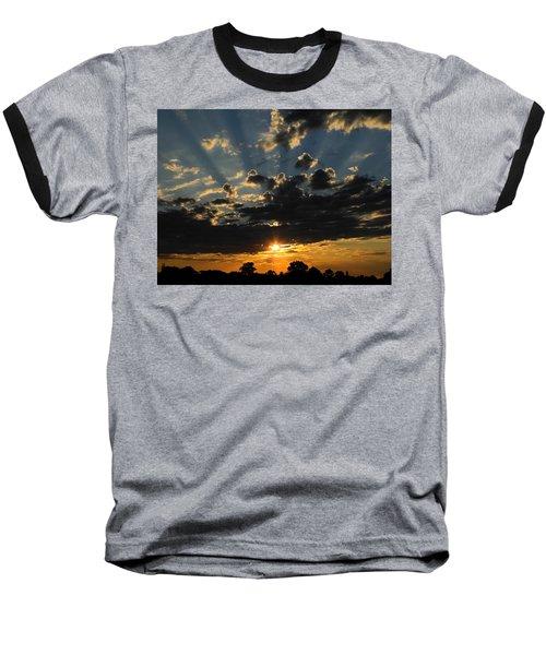 Dark Sunset Baseball T-Shirt by Mark Blauhoefer