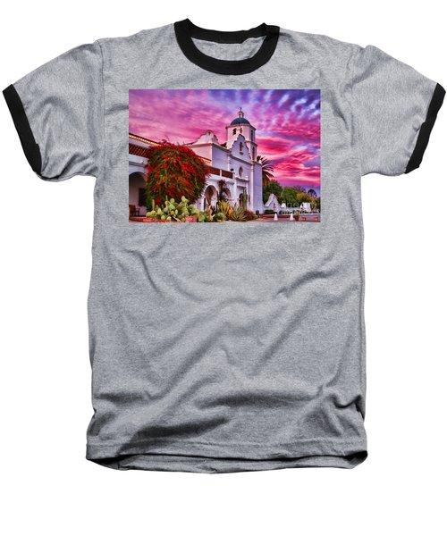 Sunset Mission San Luis Rey De Francia By Diana Sainz Baseball T-Shirt