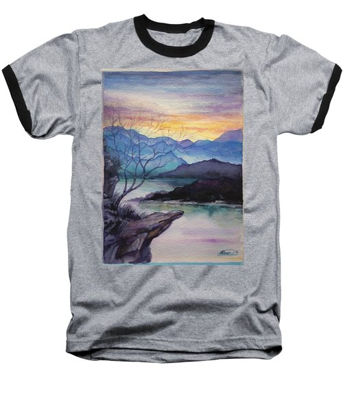 Sunset Montains Baseball T-Shirt