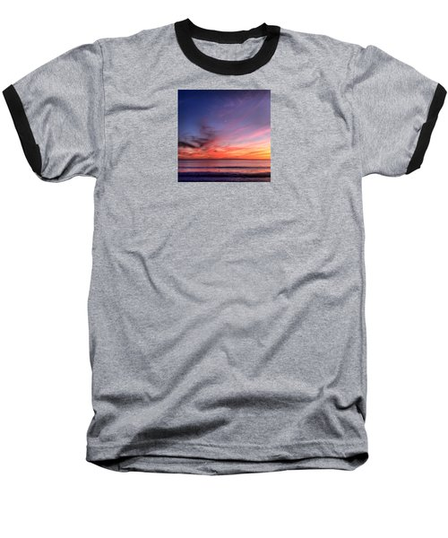 Sunset Moon Rise Baseball T-Shirt