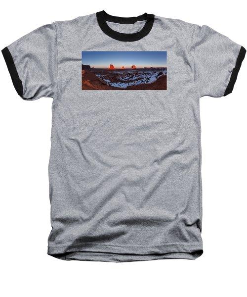 Sunset Moonrise Baseball T-Shirt by Tassanee Angiolillo