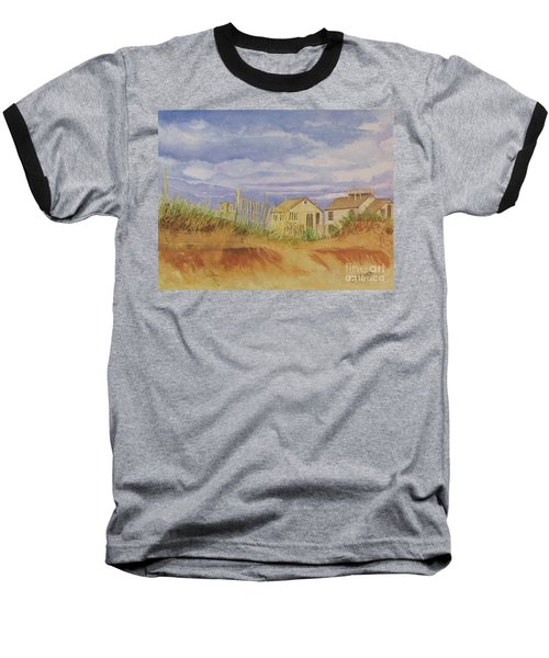Baseball T-Shirt featuring the painting Sunset Nantucket Beach by Carol Flagg