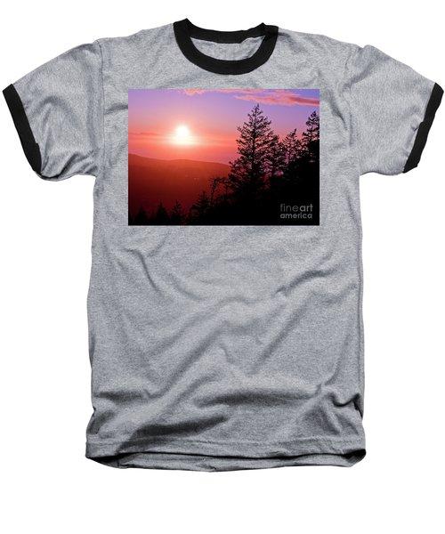 Sunset Off Mt Erie Washington Art Prints Baseball T-Shirt