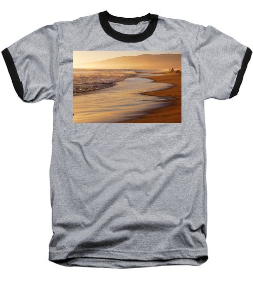 Sunset On A Beach Baseball T-Shirt