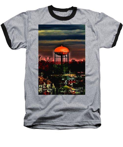 Sunset On A Charlotte Water Tower By Diana Sainz Baseball T-Shirt
