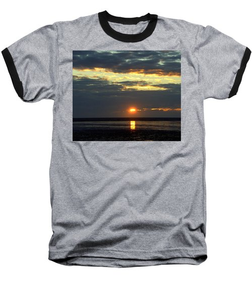 Sunset On A Cloudy Evening Baseball T-Shirt