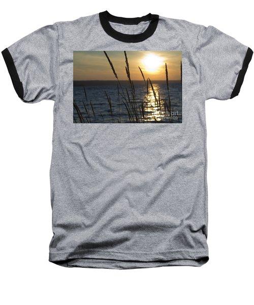 Sunset On Cayuga Lake Baseball T-Shirt