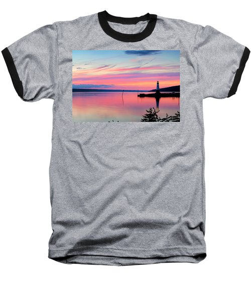 Sunset On Cayuga Lake Ithaca New York Baseball T-Shirt by Paul Ge
