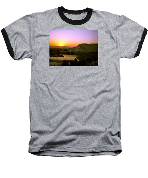 Sunset On Cotton Castles Baseball T-Shirt by Zafer Gurel