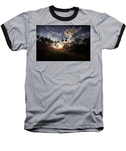 Sunset On Daisy Baseball T-Shirt