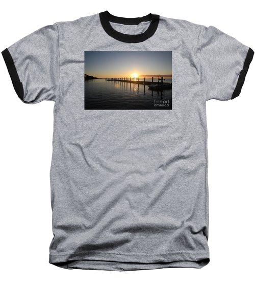 Sunset On Key Largo Baseball T-Shirt by Christiane Schulze Art And Photography
