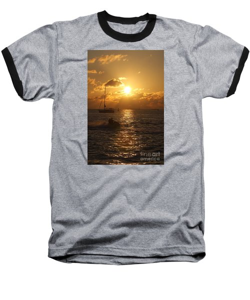 Sunset Over Key West Baseball T-Shirt by Christiane Schulze Art And Photography