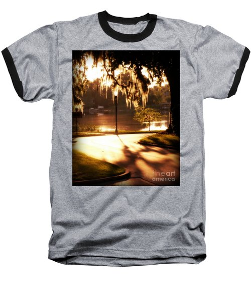 Baseball T-Shirt featuring the digital art Sunset On Lake Mizell by Valerie Reeves