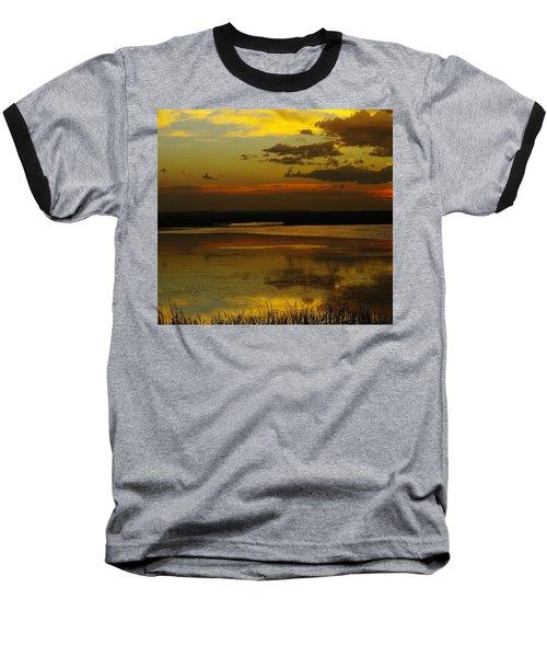 Sunset On Medicine Lake Baseball T-Shirt by Jeff Swan