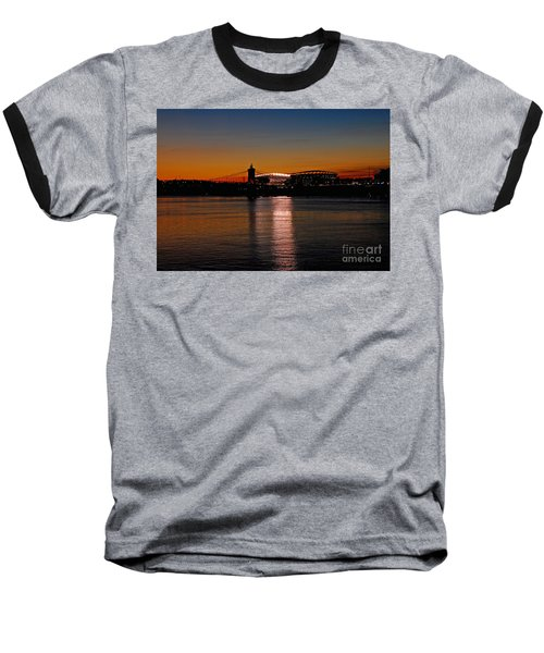 Baseball T-Shirt featuring the photograph Sunset On Paul Brown Stadium by Mary Carol Story