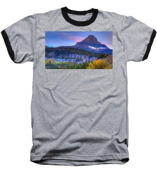 Sunset On Reynolds Mountain Baseball T-Shirt