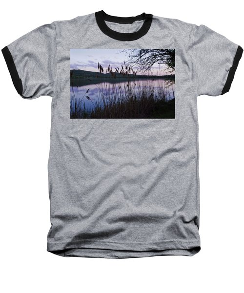 Sunset On Rockland Lake - New York Baseball T-Shirt