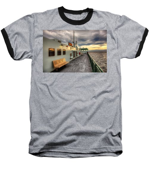Sunset On Salish Baseball T-Shirt